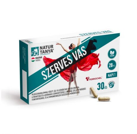 Szerves, vegán vas - Világszabadalommal védett vas-biszglicinát és vérképző vitaminok - Natur Tanya®