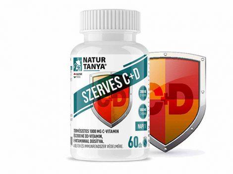 Szerves C – vitamin 1000mg és D vitamin 2000IU, 10mg E-vitaminnal, egy tablettában