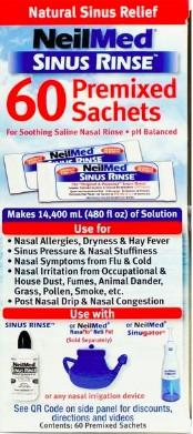 NeilMed Sinus Rinse 60 tasakos só keverék (9 éven felülieknek)