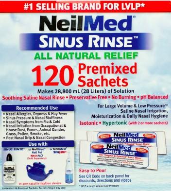 NeilMed Sinus Rinse 120 tasakos só keverék (9 éven felülieknek)