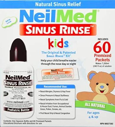 NeilMed Sinus Rinse 60 tasakos orrmosó szett (9 éven aluliaknak)