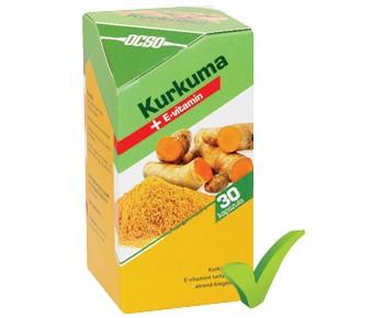 OCSO Kurkuma + E-vitamin FORTE magas kurkumin-tartalommal